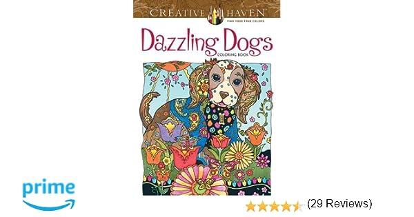 Creative Haven Dazzling Dogs Coloring Book Amazonca Marjorie Sarnat Books