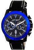 Jet Set - J6339B-337 - Vienna - Montre Homme - Quartz Chronographe - Cadran Noir - Bracelet Cuir Noir
