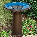 Rooney Solar Ceramic Bird Bath by Smart Solar