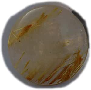 The Best Jewellery Golden Rutile cabochon, 19Ct Natural Gemstone, Round Shape Cabochon For Jewelry Making (22x22x5mm) SKU-15084