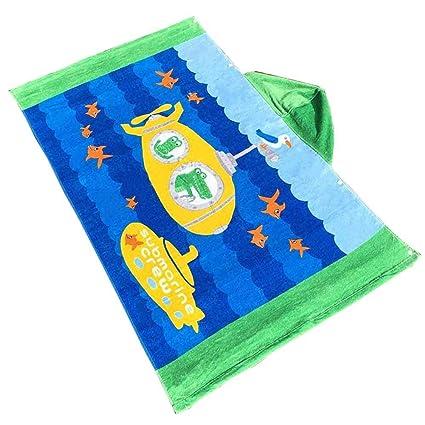 POPPAP - Toalla de playa con capucha para niños, con capucha, de cocodrilo,