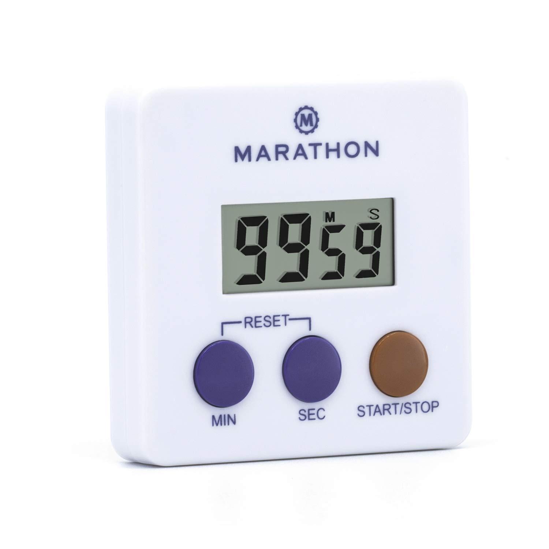 マラソンti080006デジタル100分タイマーW /磁気クリップ、電池付属 TI080006WH-25 B06Y5TF6ZW ホワイト 25