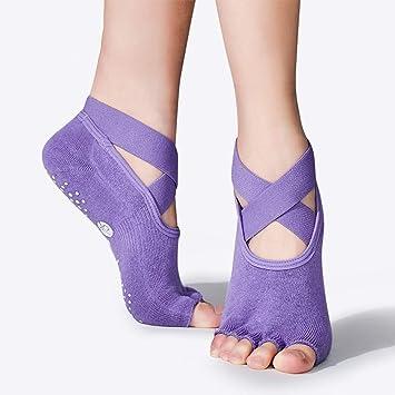 LLQ Calcetines de Yoga Antideslizantes Calcetines de ...