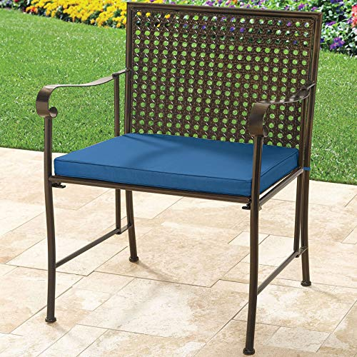 BrylaneHome Extra Wide Metal Folding Chair - Blue