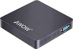 AWOW Mini PC Intel Celeron N3350 Mini Computer Windows 10 Mini Desktop Computer 6GB DDR4/64GB eMMC Support 4K,2.4G/5G WiFi,Gigabit Ethernet,BT 4.2