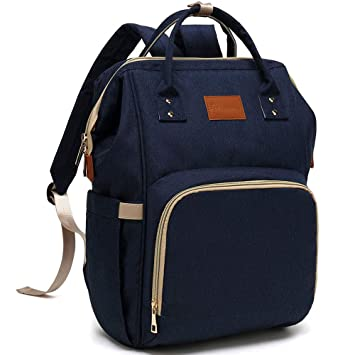 a631613227c1 Baby Diaper Bag Backpack – Large Diaper Backpack for Mom Dad with Stroller  Straps, Multi-Function,...