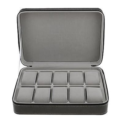 baosity caja porta relojes funda para 6 relojes con rodamientos material cuero de editor de 28 x 20 x 8 cm: Amazon.es: Joyería