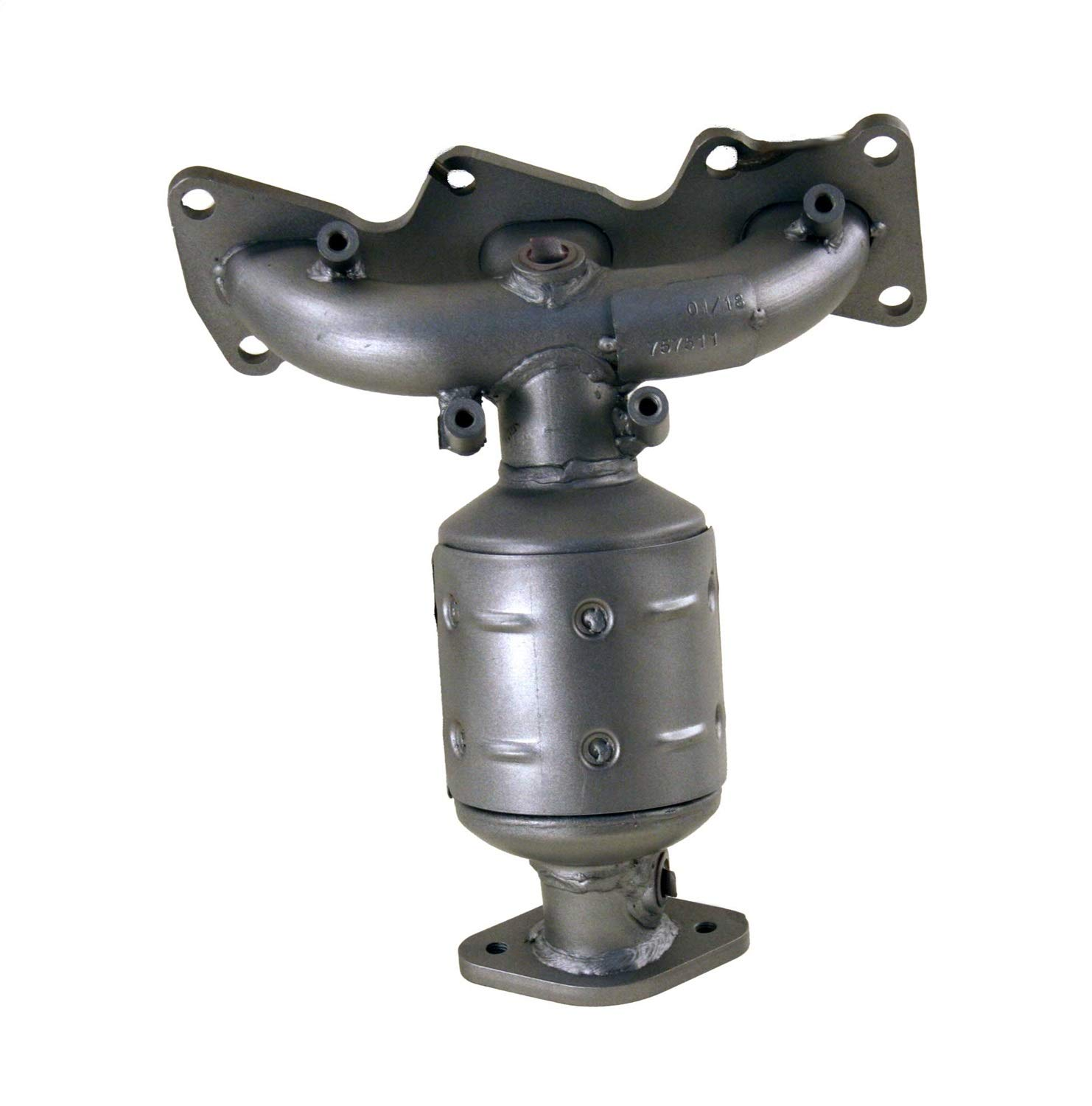 Non C.A.R.B. Compliant Pacesetter 757511 Manifold Raw Steel Direct-Fit Catalytic Converter