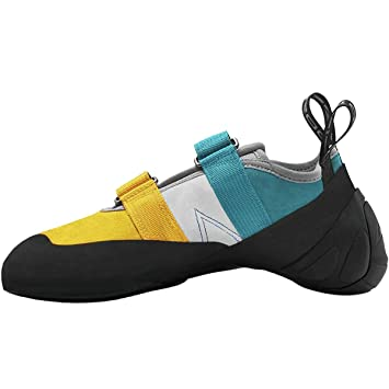 Madrock Climbing Shoes Agama (4.5 D(M) US, Teal/Yellow)