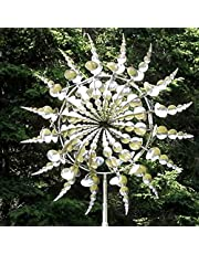 Unique and Magical Metal Windmill,SHINGO 3D Wind Powered Kinetic Sculpture, Metal Wind Spinner Solar, Lawn Solar Wind Spinners for Yard and Garden, Wind Catchers Metal Outdoor Patio Decoration (30Inches)