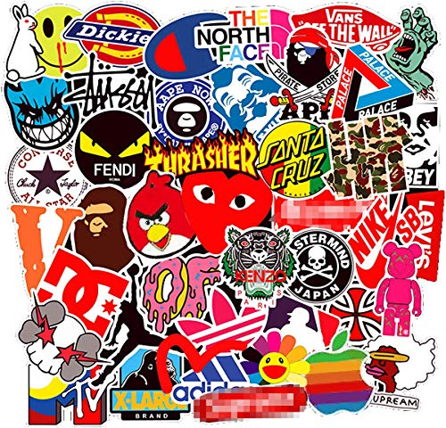 ZUIYI 100 Pcs Fashion Brand Stickers for Laptop Stickers Motorcycle Bicycle Skateboard Luggage Decal Graffiti Patches Stickers for [No-Duplicate Sticker Pack] (New - Tz Notebook Series