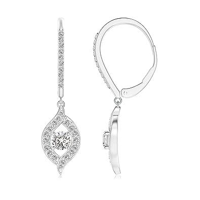 Angara Floating Drop Diamond Halo Leverback Earrings 00yAKdTgF