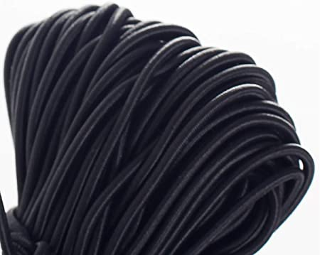 Cable de Goma 10Pcs 3mm Fornituras para Pulsera Collar haciendo Negro