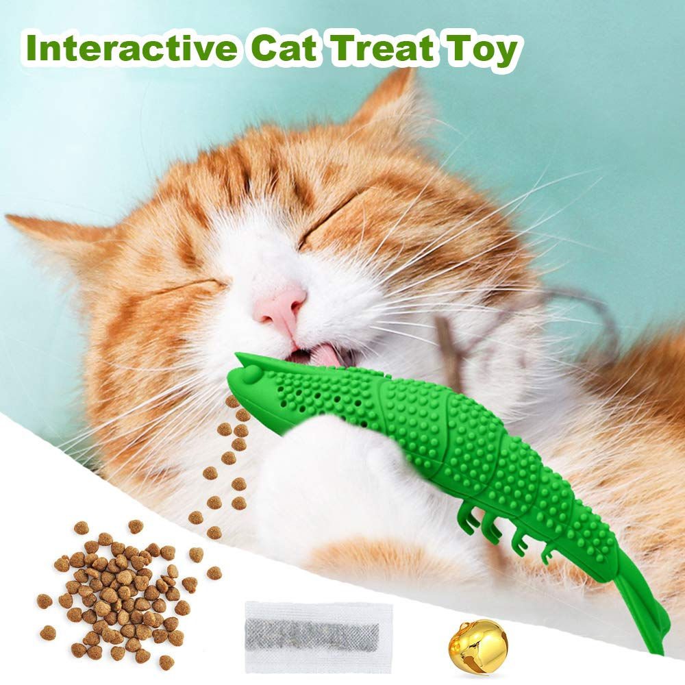 Mcgrady1xm Catnip Toys for Cats Kitten Kitty Cat Toys Interactive Cat Toothbrush Toy Cat Dental Care Teeth Cleaning Chew Toys Refillable Pet Cat Treat Toy Cat Stuff
