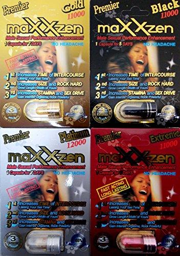 CBC Premier maXXzen Variety 4PC Male Sexual Performance Enhancement (3) by Premier maXXzen