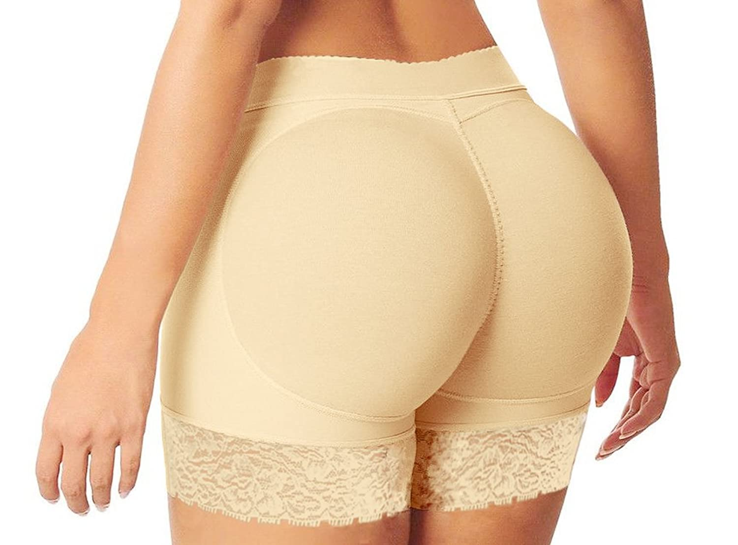 HelloTem Women Lace Padded Seamless Butt Hip Enhancer Shaper ...