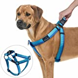 No Pull Dog Harness, PETBABA Reflective Front Clip Dog Harness with Martingale Handle on Top for Walking Training