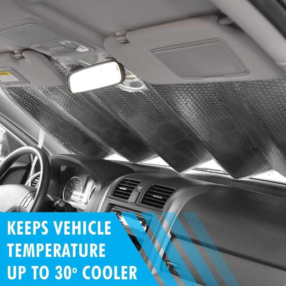 AS-775 BDK Texas Flag 58 x 27 Inch Front Windshield Sun Shade-Accordion Folding Auto Sunshade for Car Truck SUV-Blocks UV Rays Sun Visor Protector-Keep Your Vehicle Cool