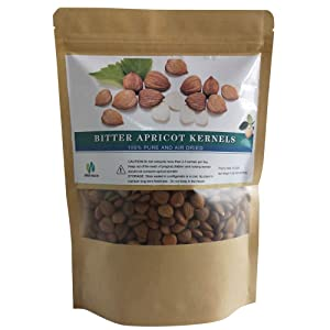 Bitter Apricot Kernels 16oz , Organic Certified Natural Raw Bitter Apricot Seeds 1LB