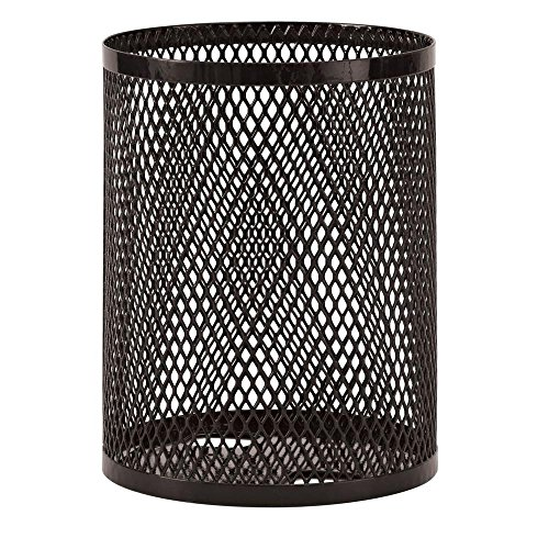 - Ultra Play Commercial Park 32 Gal. Trash Receptacle- Portable, Diamond, Black