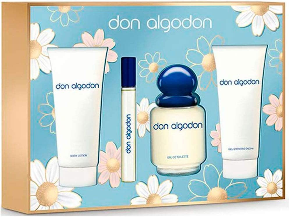 DON ALGODÓN pack colonia spray 100 ml + colonia 10 ml + gel de ...