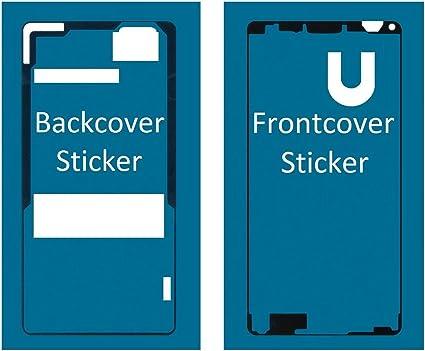 MMOBIEL Set de 2 Etiquetas/Folios Adhesivos Delantero y Trasero ...