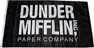 Mountfly The Office Dunder Mifflin Paper Company Banner Flag 3X5 Feet Man Cave