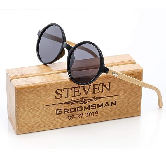 Amazon.com: Mostop Gafas de sol personalizadas con grabado ...