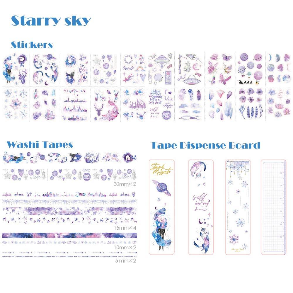 BITEYI Washi Ruban Adh/ésif de Masquage,Bullet Journal,D/écoratif de Papier Adh/ésif pour Scrapbook//Carnet Feuille verte