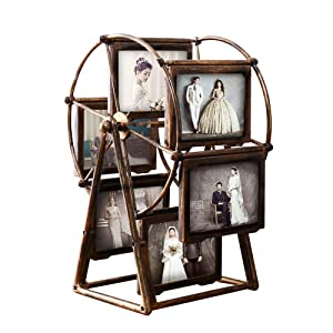 MLADEN Retro Vintage Family Photo Frames DIY Ferris Wheel Rotatable Windmill Picture Frame Home Decor Gift Nostalgic Style