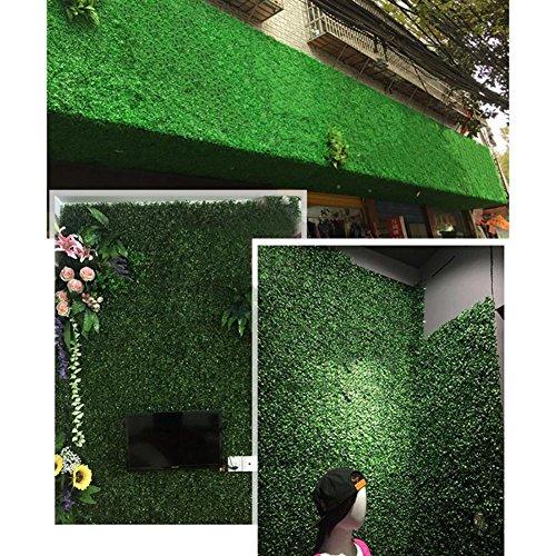 Rollos de plástico para pared de césped artificial, diseño de hojas de hiedra, para jardín, decoración de césped falso,...