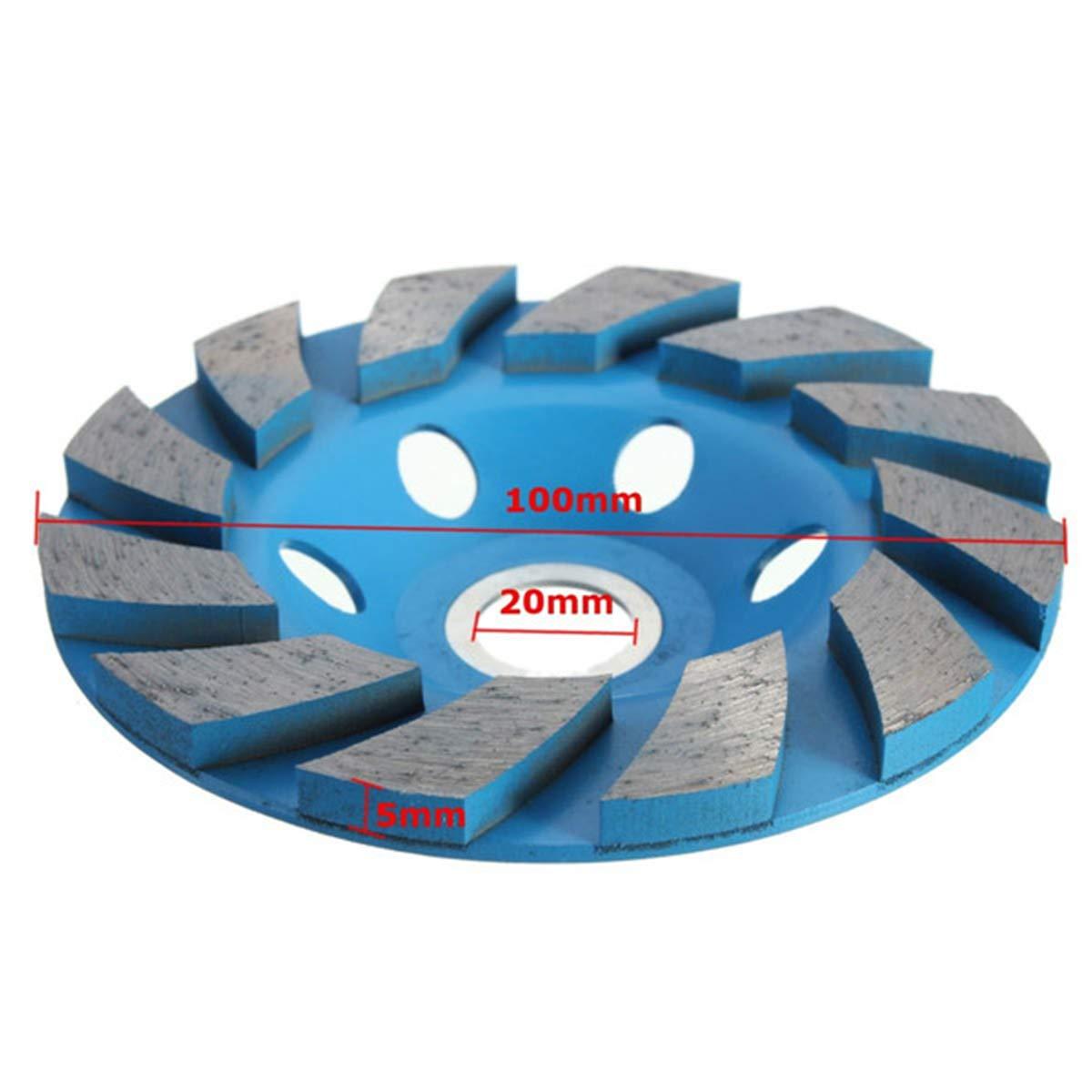 V/ÉZAAR Angle Grinder Segment Grinding Disc Granite Marble Concrete 2PCS 4 Inch Diamond Cup Grinding Wheel