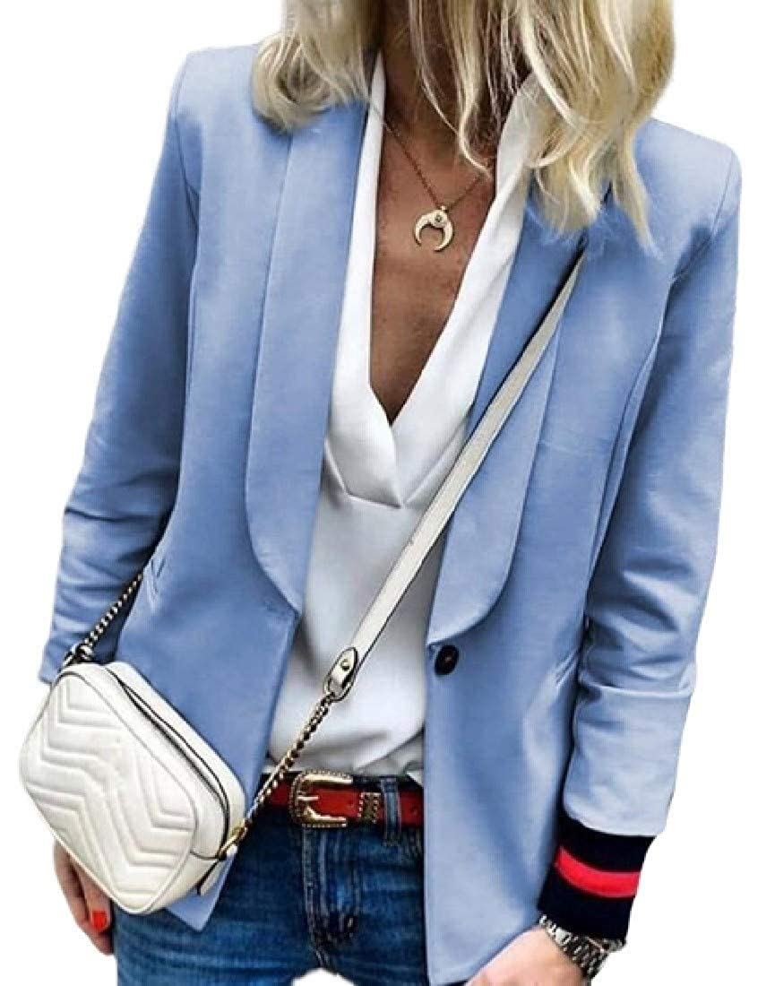 SELX Women Office OL One Button Solid Cardigan Stylish Blazer Suit Jackets
