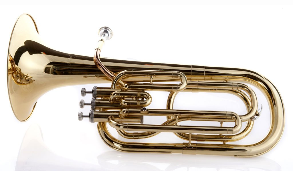Hawk SBAR Student 3-Valves Lacquered Baritone Horn, Gold by Hawk (Image #2)