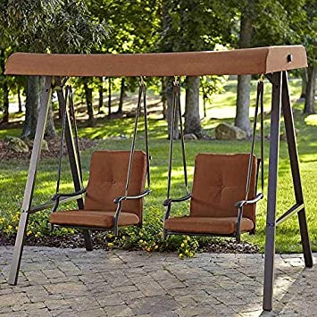 Amazon Com Clermont 2 Person Swing Cushion Set Of 2 Garden