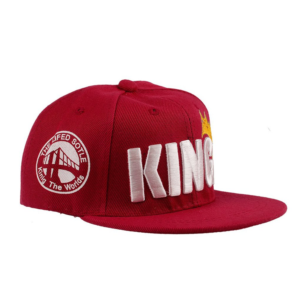 FUNOC® Child Boys Girls Kids Hip-hop Trucker Hat Crown KING Logo Baseball Cap