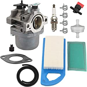 Harbot 593432 Carburetor + 794421 797007 698413 Air Filter 697292 Pre-Filter for Briggs & Stratton 794653 791266 215000 Engine