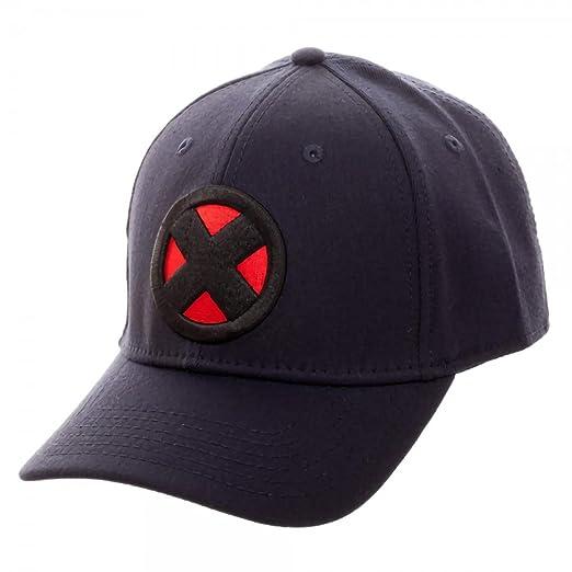 Image Unavailable. Image not available for. Color  Marvel X-men X Logo Navy  Flex Cap 8d22f9fa98f8