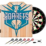Trademark Gameroom NBA7010-CH2 NBA Dart Cabinet Set with Darts & Board - Fade - Charlotte Hornets