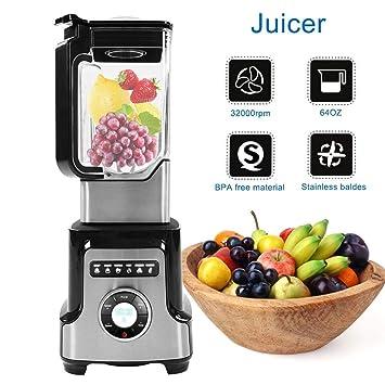Batidora Profesional extractor de zumo centrífuga frutas y verduras, Exprimidor Eléctrico 2200 W, Comercial multifunción, emulsionador, apta para zumos y ...