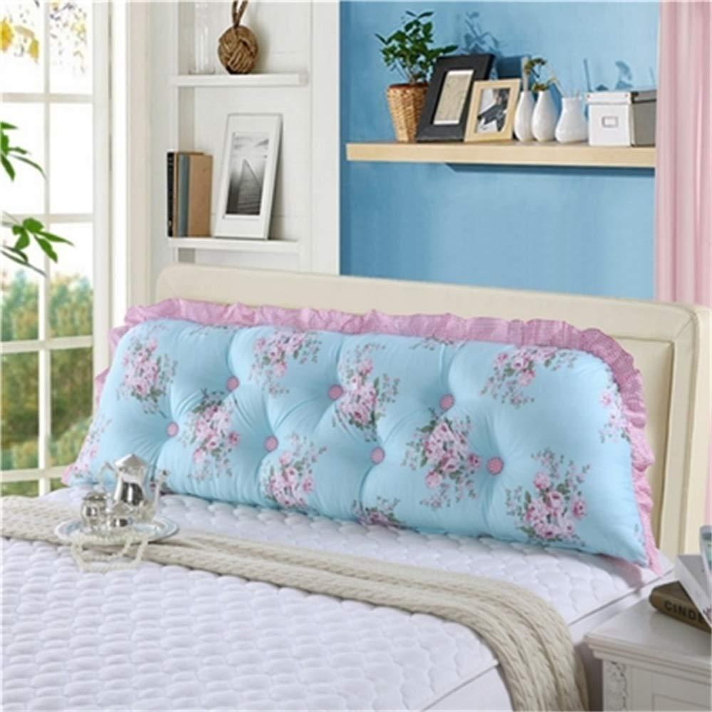 JXQ Persönlichkeit Koreanische Kinderzimmer Prinzessin Nette Einfache Streifen Baumwolle Rückenlehne Bett Kissen Waschbar Cartoon Kissen, 19 Farben & 5 Größen ( Color : S , Size : 200x18x55cm )