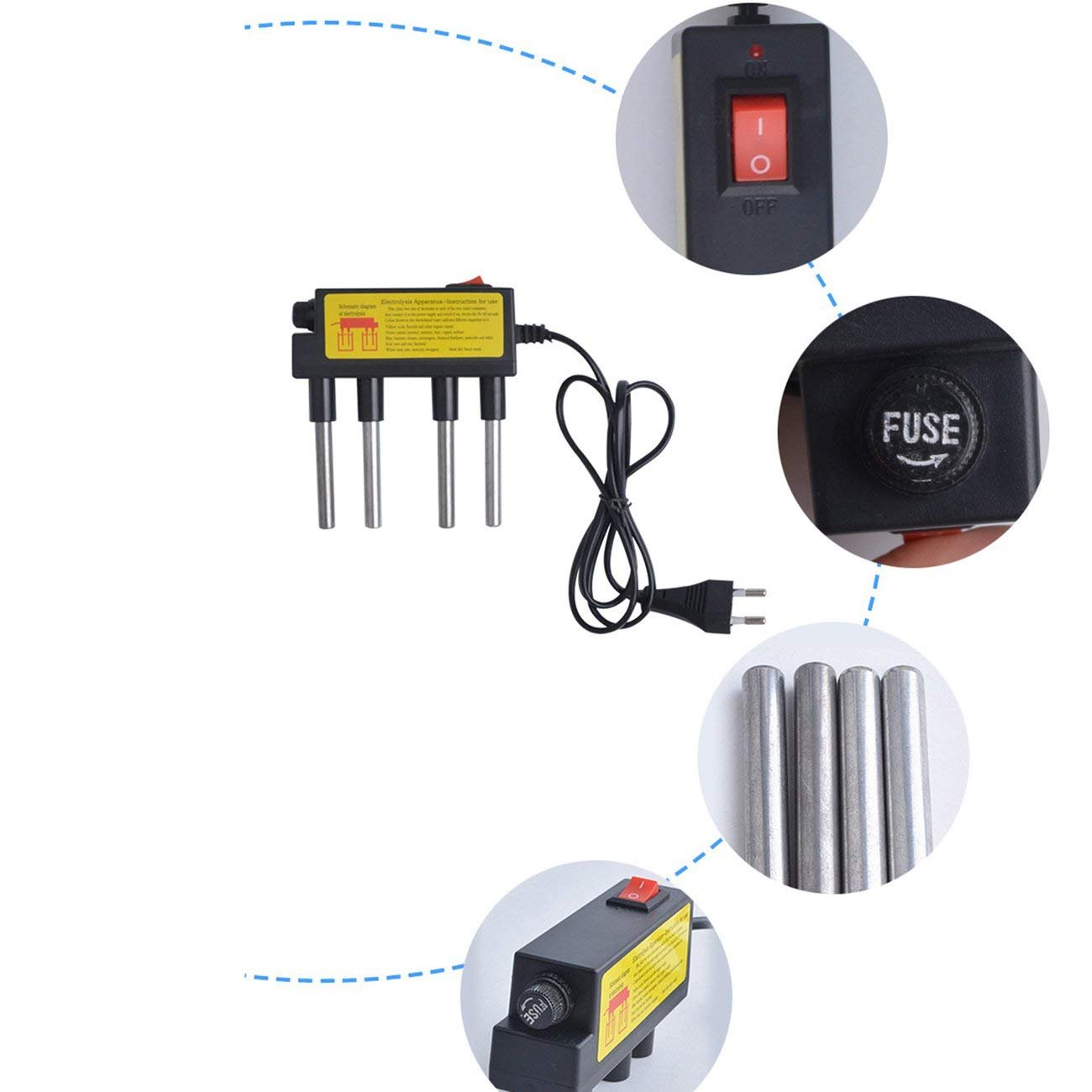 Elviray Wasserelektrolyse-Test Elektrolyse-Wasserwerkzeuge TDS-Teststift F/ür die Pr/üfung von Trinkwasser und Wasseraufbereitern zu Hause