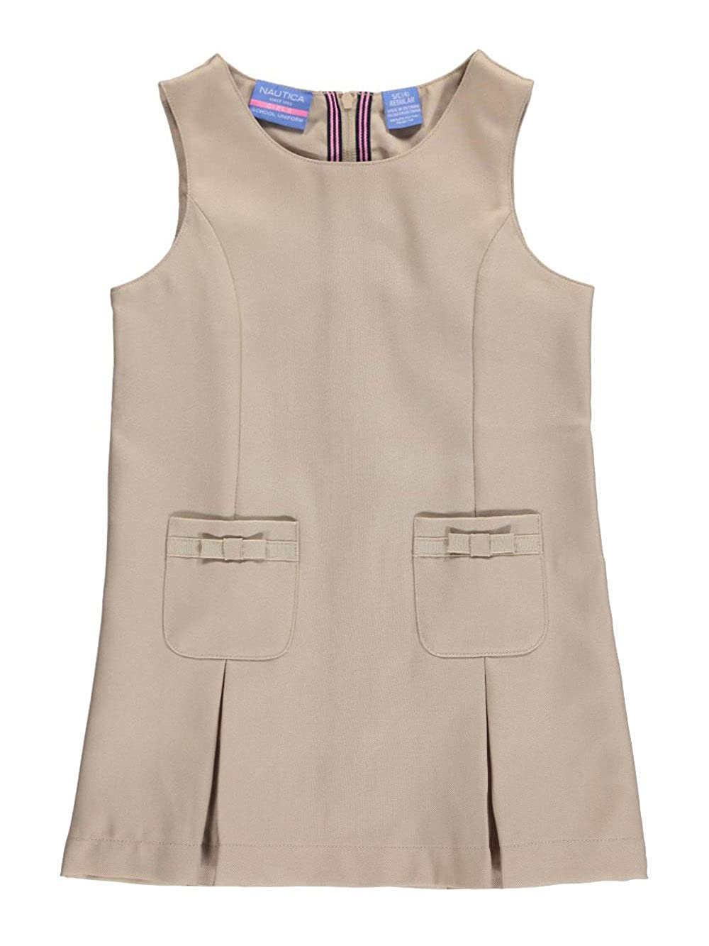 Nautica Little Girls' Grosgrain Bow Pockets Jumper 6