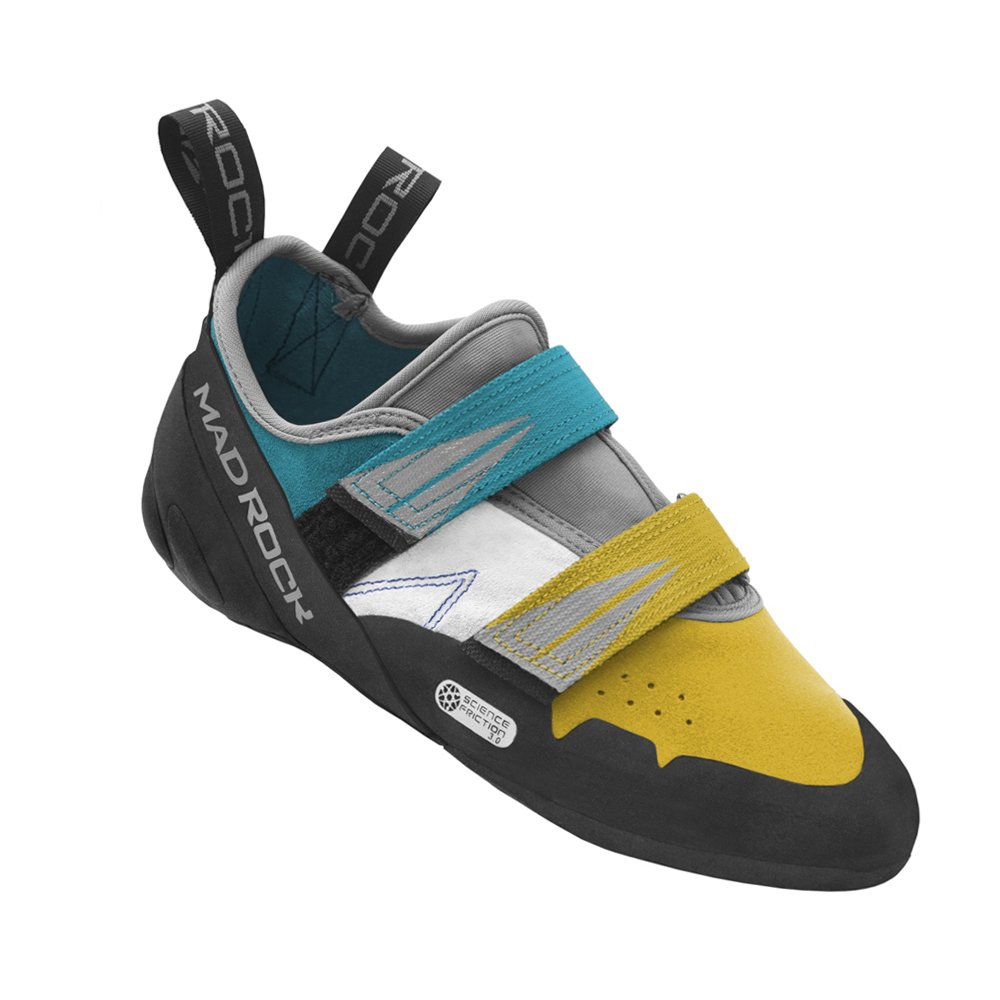 Mad Rock Madrock Climbing Shoes Agama (6.5 D(M) US, Teal/Yellow) by Mad Rock