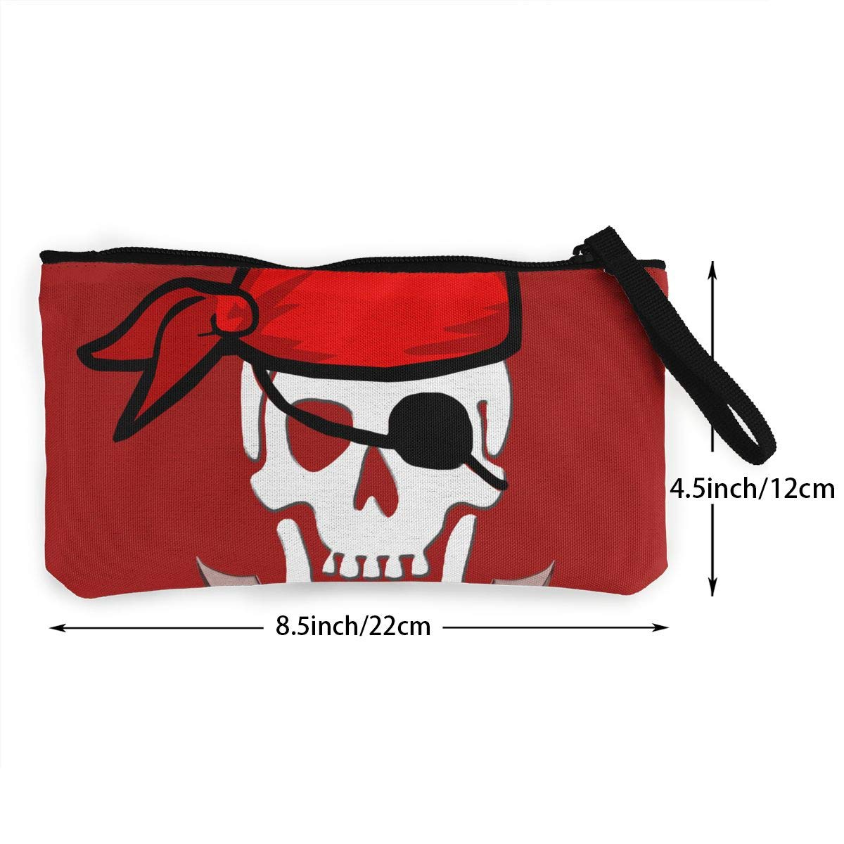 Maple Memories Pirate Portable Canvas Coin Purse Change Purse Pouch Mini Wallet Gifts For Women Girls