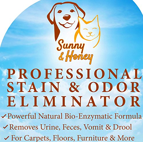 Enzyme Cleaner Pet Stain Remover Odor Eliminator Best Carpet Stain Remover Pet Odor Eliminator Stain Remover Odor Neutralizer Cat Urine Smell - Cleaner - Eliminator Sunny and Honey