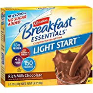 Carnation Breakfast Essentials Complete Light Start Nutritional Drink, Rich Milk Chocolate, 8-Count Box (Pack of 8 Boxes)