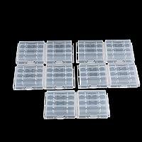 Tosuny 10x batterijbox voor AA / AAA plastic batterij, opbergkoffer voor bescherming en transport voor 4 AA of 5 AAA…