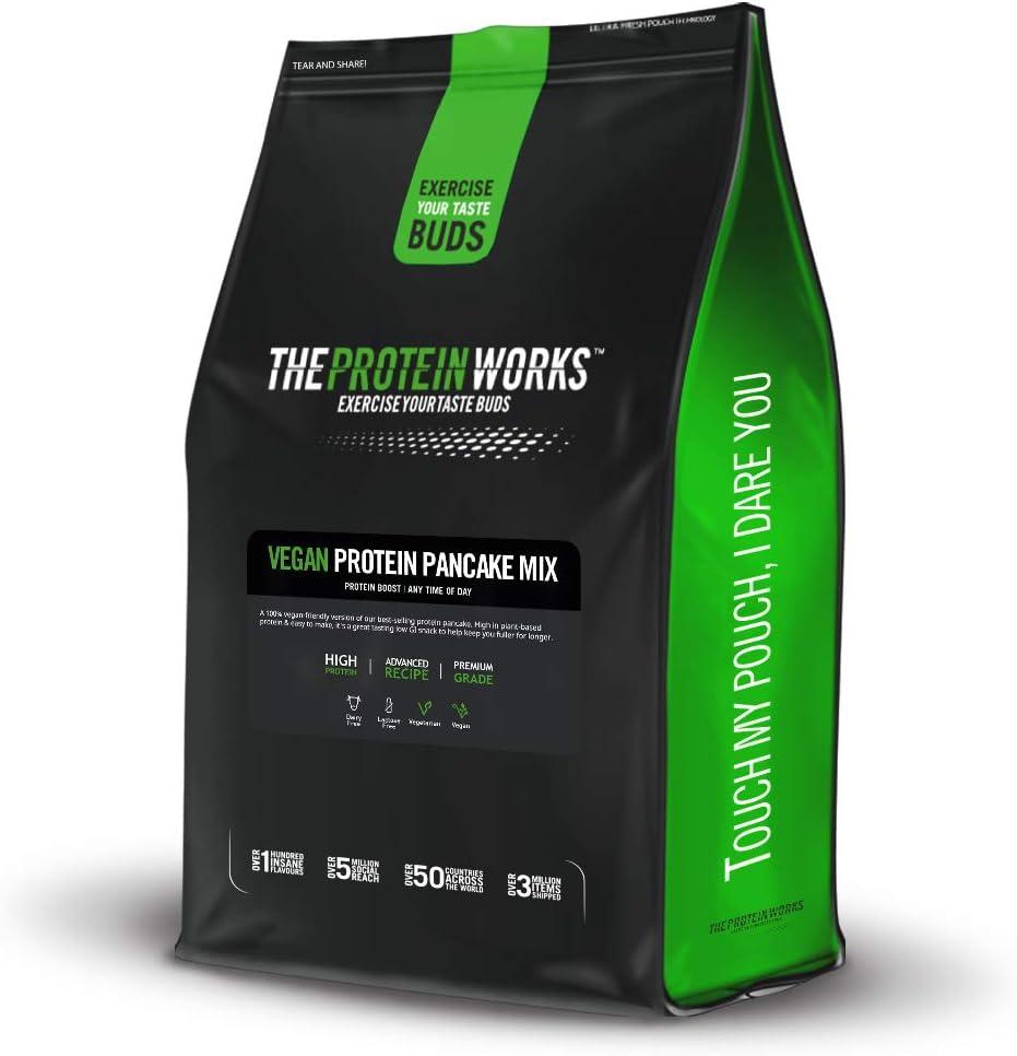 The Protein Works Tortitas Veganas Proteicas | Alto En Proteínas, 4 Tipos De Proteínas Vegetales, Bajo En Azúcar | Frutas Del Bosque 1000 g