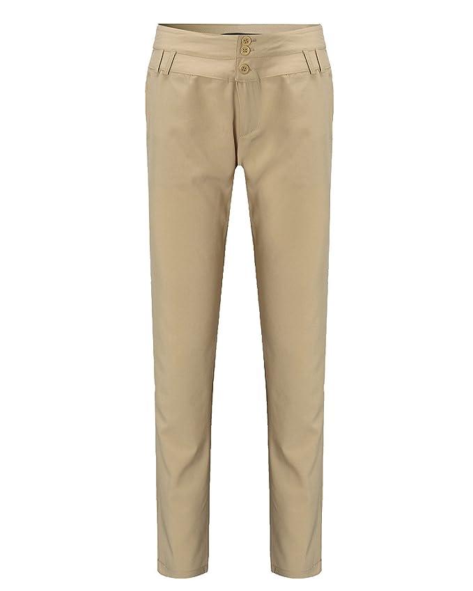 StyleDome Vaqueros Mujer Pantalon Pantalones Largos Botones Oficina   Amazon.es  Ropa y accesorios cced8dc9367b